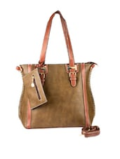Brown Hand Bag Cum Sling Bag - Lalana