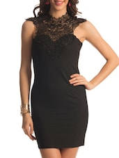 Black Lace Turtle Dress - PrettySecrets