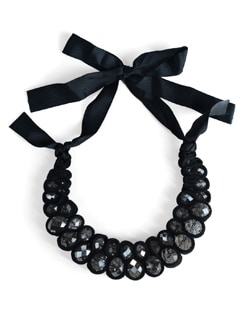 Black Crystal Choker Necklace - Tribal Zone