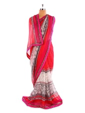 Pink And Grey Saree - Fabdeal