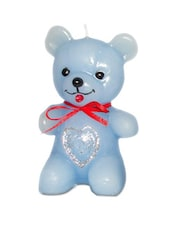 Blue Teddy Bear Candle - Pride & Joy Arts