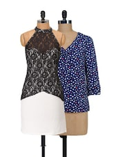 Set Of Hearts Top And Lace Dress - @ 499 - 927738