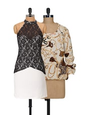 Chains And Halter Top And Dress Set - @ 499