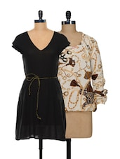 Chic Top And Dress Set - @ 499