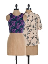 Bats And Flowers Top Set - @ 499