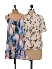 Bats And Artsy Print Top And Dress Set - @ 499