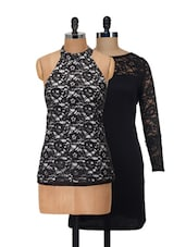 Lace Dress And Top Set - @ 499