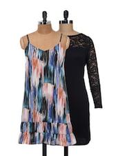 Lace And Art Dress Set - @ 499