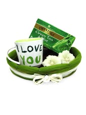 Green Tea With Mug Gift Hamper - Gifts By Meeta