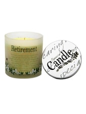 Retirement Quote Special Candle - Gifts By Meeta