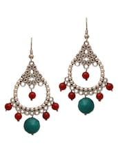 Antique Silver And Red Earrings - Ergo Sum