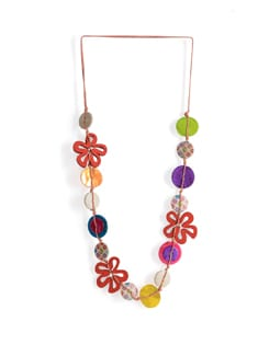 Long Floral Necklace - Tribal Zone