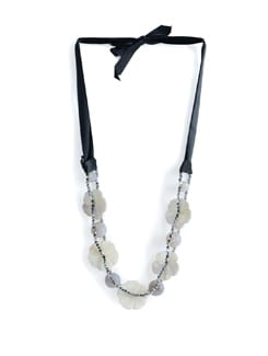 White Beaded Necklace - Tribal Zone