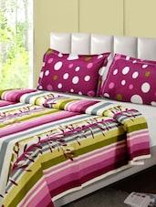 Colourful Stripes Double Bedsheet Set - Desi Connection