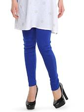Bright Royal Blue Woollen Leggings - Nataasha Dubliish