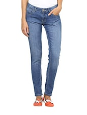 Blue Straight-Fit Jeans - L'elegantae