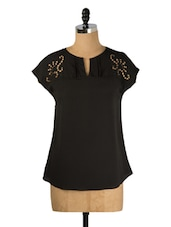 Black Cut-Out Chic Top - Avirate