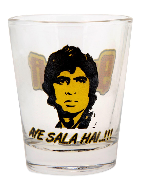Natural And Yellow Sharabi Shot Glass- Set Of 2 - EK DO DHAI