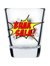 Printed Shot Glass Set Of 2 - EK DO DHAI