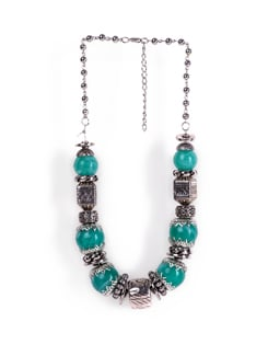 Silver-green  Necklace - Tribal Zone