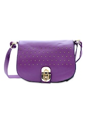 Cute Purple Leatherette Sling Bag - Diana Korr