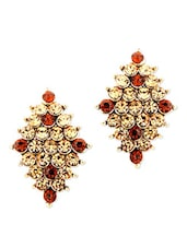Diamond Shaped Traditional Crystal Earrings - Just Women