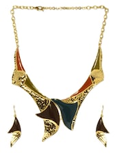 Brown And Golden Jewellery Set - Svvelte