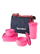 Pink Lunch With Bag - Signoraware
