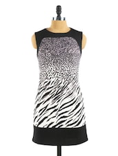 Animal Print Lycra Shift Dress - Collezioni Moda