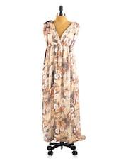 Printed Floral Maxi Dress - Collezioni Moda