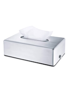 Silver Stainless Steel Tissue Box