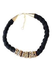 Black Twisted Designer Necklace - Supriya