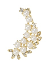 Faux Pearl Embellished Ear Cuffs - Hedoneesta
