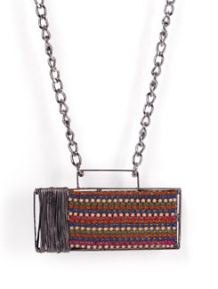 Designer Necklace With Multicolored Pendant - Tribal Zone