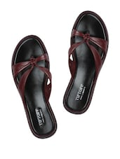 Cherry Knotted-Strap Slippers - Tiptop