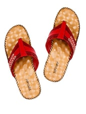 Cherry Snakeskin Patterned Platform Slippers - Tiptop