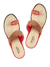 Red And Gold Slippers - Tiptop
