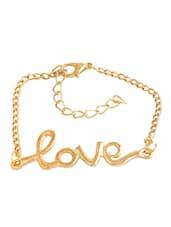 Gold Love Charm Bracelet - Style Fiesta