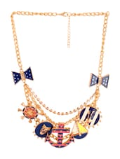 Blue Quirky Necklace - Style Fiesta
