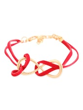 Red And Gold Intertwined Bracelet - Style Fiesta