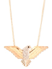 Gold Eagle Necklace - Style Fiesta