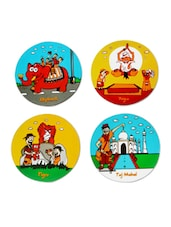 Colourful India Travel Coasters - Happily Unmarried