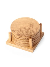 Oak Wood Coasters With Stands - WoodTrim
