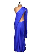 Royal Blue Chiffon Satin Saree