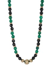 Green And Black Beads Necklace - Camroose