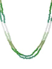 Green And White Beaded Necklace - Camroose