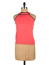 Pink High-neck Sleeveless Top - Popnetic
