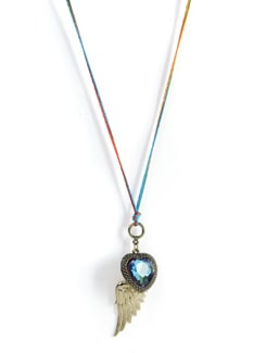 Rainbow Heart Pendant Necklace - Tribal Zone