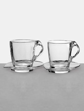 Clear Glass Coffee Cup Set - RCR