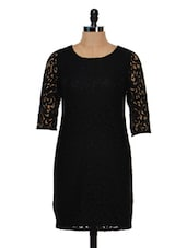 Black Lace Dress - Femella